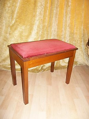 Vintage Piano Stool With Lift Up Seat & Storage Inside