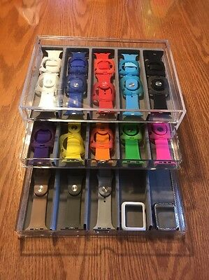 Apple Smart Watch Band Acrylic Storage Display Case  And Band Collection
