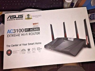 ASUS RT-AC88U Wireless-AC3100 Dual Band Gigabit Router, AiProtection with Trend