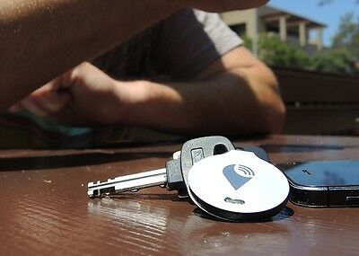 Genuine TrackR Bravo Silver Bluetooth Tracker Key Finder + New battery