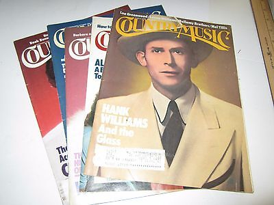 Country Music Magazine Complete 1984 Five Issue Set Tammy, Conway, Hank