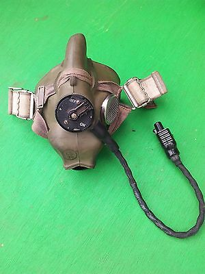 Vintage RAF pilots/aircrew wired H-type oxygen mask
