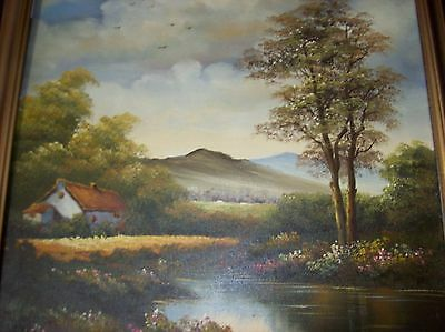 oil painting on canvas signed by artist landscape