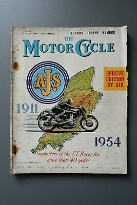 R&L Mag: Motor Cycle 17 June 1954 Special Bumper Issue Isle of Man TT