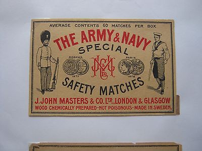 Old Swedish Packet Size Army & Navy A/c 60.matchbox Label.