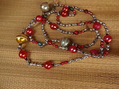 Antique Beaded Glass Christmas Tree Garland 5 Ft