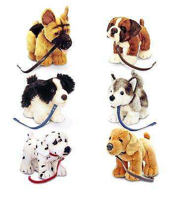 Keel Toys Signature Puppies 30cm Dog With Lead 6 Designs Cuddly Soft Toy SD4224