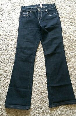 NEW LOOK Yes Yes Ladies Jeans  Bootcut Dark Blue Size 14L