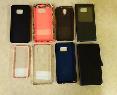 Lot of 8 Phone Cases - Various Models *USED*