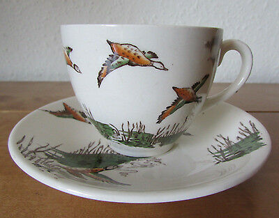 Fab Rare Vintage Retro *flying Ducks* Alfred Meakin Westport Cup And Saucer Set