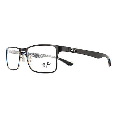 Ray-Ban Glasses Frames 8415 2861 Top Shiny Black On Silver Men 55mm