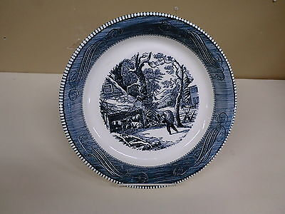 "Royal Ironstone Currier &  Ives Harvest Scene 10"" Pie Plate"