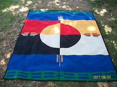Preowned Reversible Pendleton Beaver State Elders Circle Of Life Blanket 64 X 76