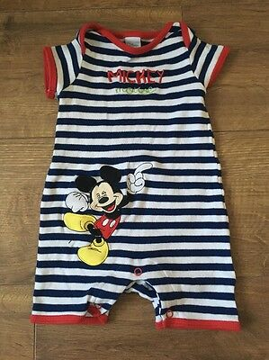 Boys 3-6 months Summer Playsuit / Bodysuit Mickey Mouse Disney