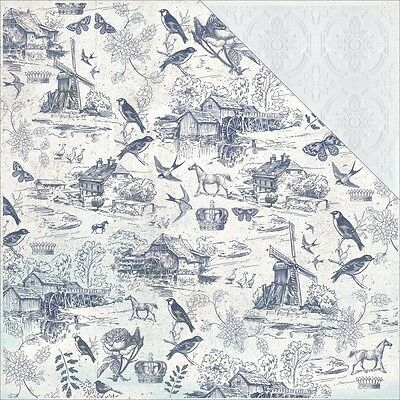 KC - 12in.x12in. - Provincial Double-Sided Cardstock - Toile
