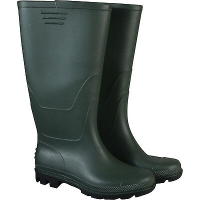 Town & Country Original Full Length Wellington Boots Green Size 10