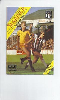Grimsby Town v Rotherham United Football Programme 1981/82