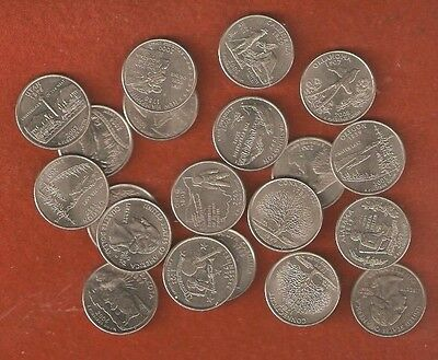 20 Assorted United States State Quarters Nice Collectable Coins L529
