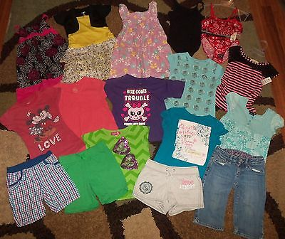Lot of Girls Clothes size 6 - 6X Dress Shorts Shirts Justice Gap Place Disney