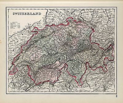 SWITZERLAND 220 old antique maps of genealogy lots HISTORY teach atlas