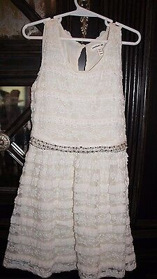 Monteau Girl Girls Lace Dress with Bling Size S 6 7 EUC