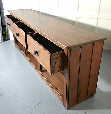 Large Georgian Rustic Pine Pot Board Dresser