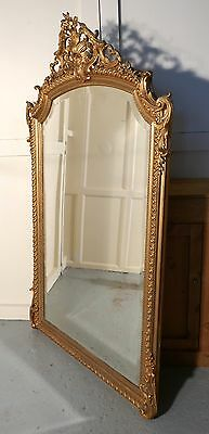 A Large 19th Century French Gilt Wall Mirror