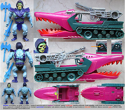******SET SKELETOR & LAND SHARK_poor_MASTERS OF THE UNIVERSE_MOTU_HE-MAN_FAKER_C