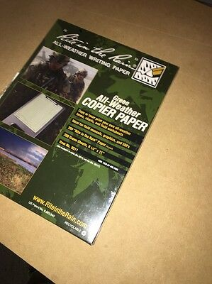 "Rite in the Rain 9511 All-Weather Green Copier Paper - 200 Sheets (8 1/2"" x 11"")"