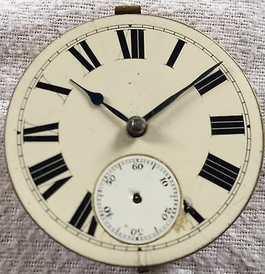 Antique Key Wind Pocket Watch Movement Spares Repair Fusee Not Working