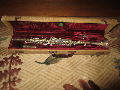ARTISAN DELUXE USA silver plated brass clarinet sn 90564 case mouth piece MP