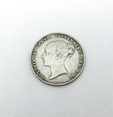 1866 Great Britain 6 Pence Sterling Silver Coin KM-733.1