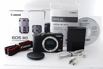 Canon EOS M3 24.2 MP Black Mirrorless Digital Camera Body From Japan #603