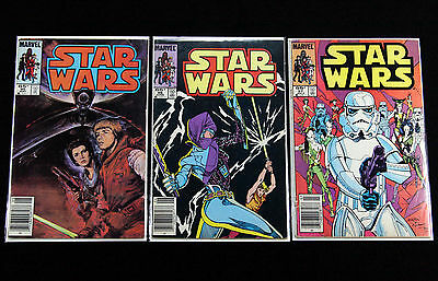 STAR WARS #95-97 VOL1 LUKE SKYWALKER VS LUMIYA 1977 Series MARVEL COMICS 96 RARE
