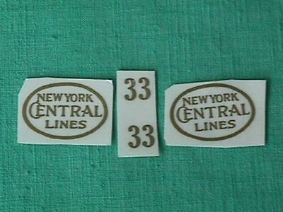 Gold Self-Adhesive Decals For Early Lionel Standard Gauge #33 Engine