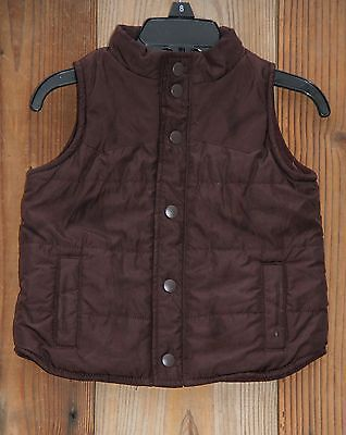 Baby GAP Boys Size 6-12 Mo Chocolate Brown Sleeveless Vest Puffer Jacket