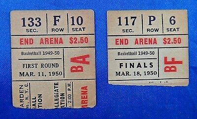 Super Rare 1950 CCNY Basketball NIT Finals Ticket Stub From 1949-50 Scandal Year