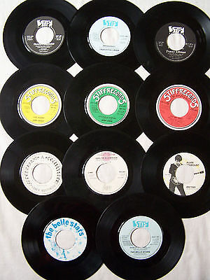 "Joblot Of Stiff Label   7"" Singles X 11 ** All Dinked Ideal For Jukebox **"