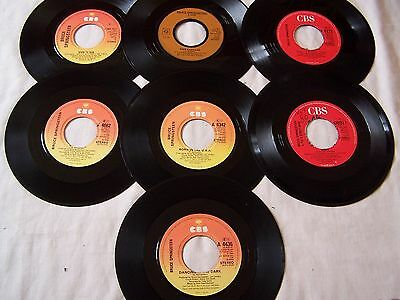 "Joblot Of Bruce Springsteen 7"" Singles X 7 ** All Dinked Ideal Jukebox **"
