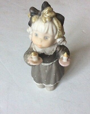"""Kim Anderson's Pretty As A Picture By Enesco Figurine """"you Light Up My Life"""""""