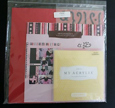 Close to my Heart Sweetheart Scrapbook Workshop NEW Paper Acrylic Stamps G1017