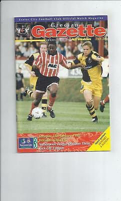 Exeter City v Wigan Athletic Football Programme 1996/97