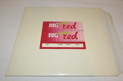 Original Student Art 'Big Red Chewing Gum' Wrapper Repro. Paint Ink Board 10x11