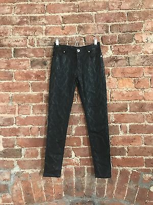 Topshop Brand New Leather Look Coated Jeans Size M 10/12