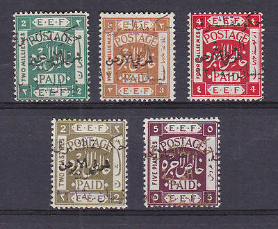 Jordan Transjordan 1923 Mint MH Part Set Definitives 5 values Arabic EEF SG55-60