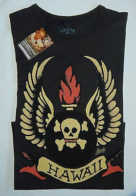 "Sailor Jerry Rum ""HAWAII"" Womens T-Shirt Size Small New With Tag"