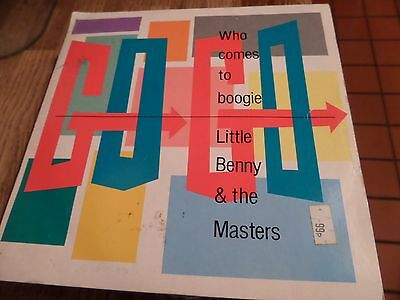 """Little Benny & The Masters Who Comes To Boogie 7"""" Single 45rpm"""