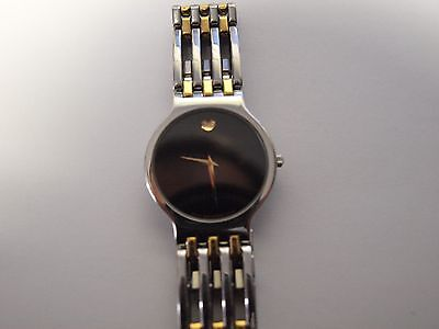 Men's MOVADO ESPERANZA 84-19-861 Black Dial -Two-Tone Wristwatch