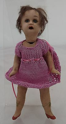 """Antique 7"""" Bisque Jointed Doll, Probably German, Very Sweet"""