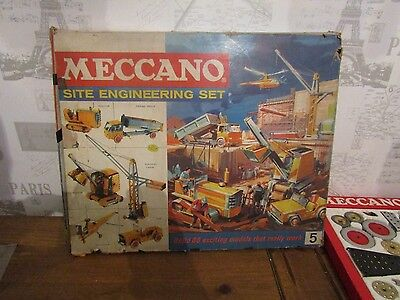 Large Vintage 1960's Meccano Set - Site Engineering Set 5 - 99.5% COMPLETE, VGC